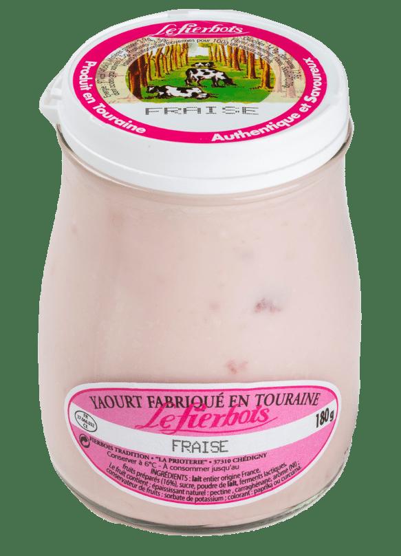 Yaourt fraise détouré